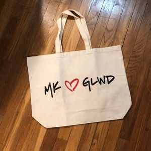 NWOT! MK ❤️ GLWD canvas tote bag